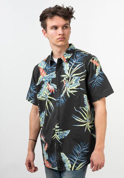 Globe Hemden kurzarm Paradise Found black vorderansicht 0400927