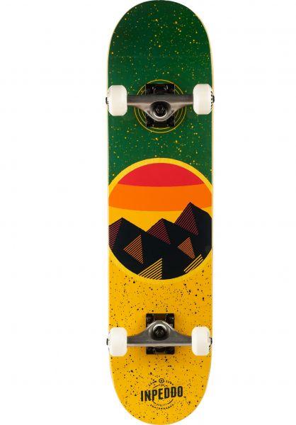 Inpeddo Skateboard komplett Mountain yellow vorderansicht 0161923