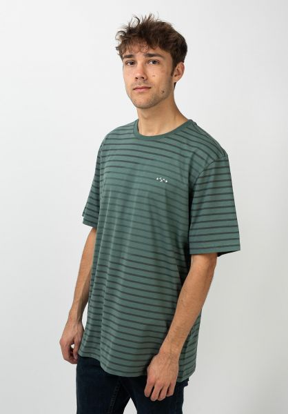 Mazine T-Shirts Corris Striped forest vorderansicht 0322282