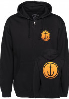 Captain-Fin-Zip-Hoodies-Tally-Ho-black-Vorderansicht