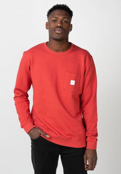 Makia Sweatshirts und Pullover Square Pocket red vorderansicht 0422690