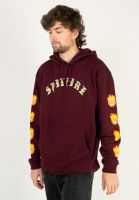 spitfire-hoodies-old-e-bighead-filll-sleeve-currant-red-yellow-vorderansicht-0446211