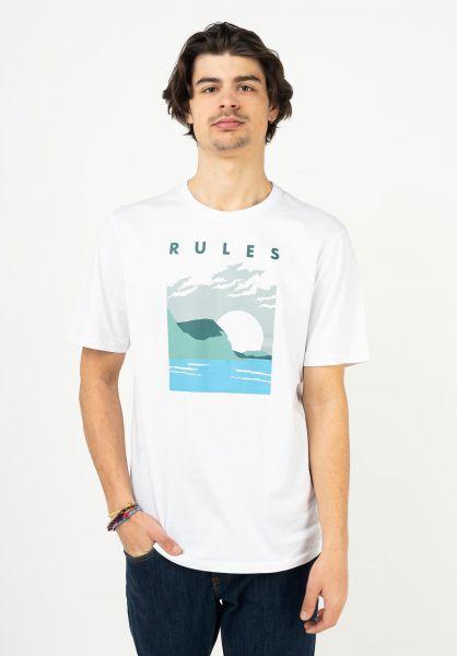 TITUS T-Shirts Ocean white vorderansicht 0321996