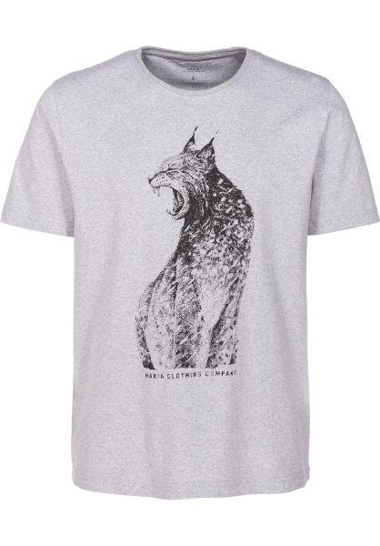 Makia T-Shirts Rufus lightgrey vorderansicht 0399430