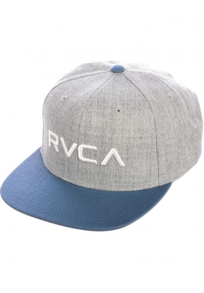 RVCA Caps RVCA Twill Snapback II greyblue vorderansicht 0564994