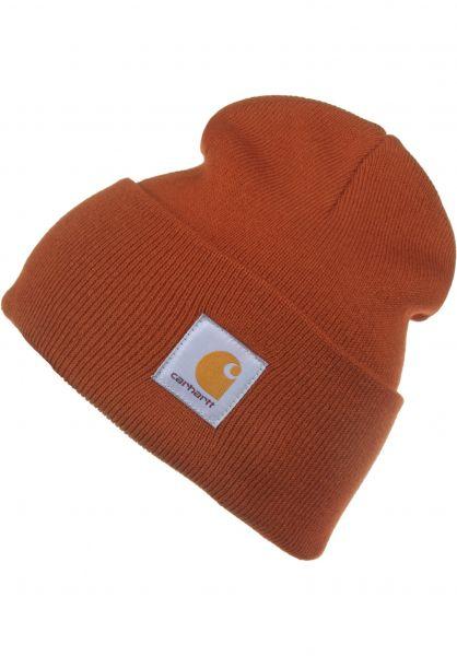 Carhartt WIP Mützen Acrylic Watch Hat cinnamon vorderansicht 0570844