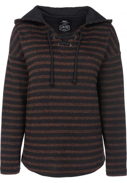 TITUS Hoodies Manou rust-striped Vorderansicht