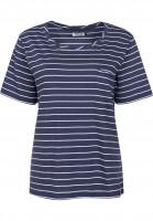 Cleptomanicx T-Shirts Port Pocket darknavy Vorderansicht