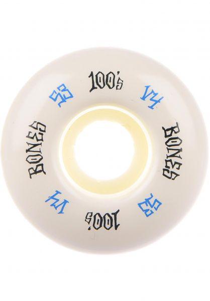 Bones Wheels Rollen 100's OG #17 V4 100A white white-blue vorderansicht 0134325