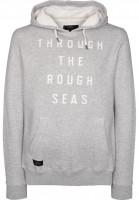Makia-Hoodies-Rough-Seas-greymelange-Vorderansicht