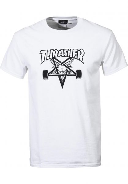 Thrasher T-Shirts Skate Goat white vorderansicht 0037028