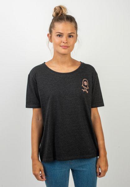 TITUS T-Shirts Eye Catcher darkgreymottled vorderansicht 0399305
