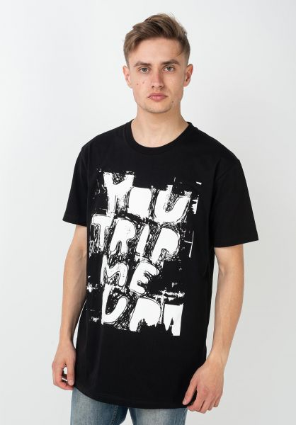 Lousy Livin T-Shirts You Trip Me Up black vorderansicht 0322354