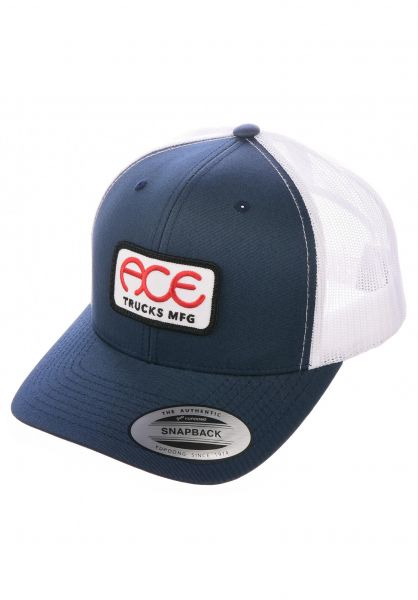Ace Caps Rings 5-Panel Hat navy-white vorderansicht 0566879