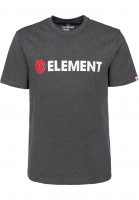 Element-T-Shirts-Blazin-charcoalheather-Vorderansicht