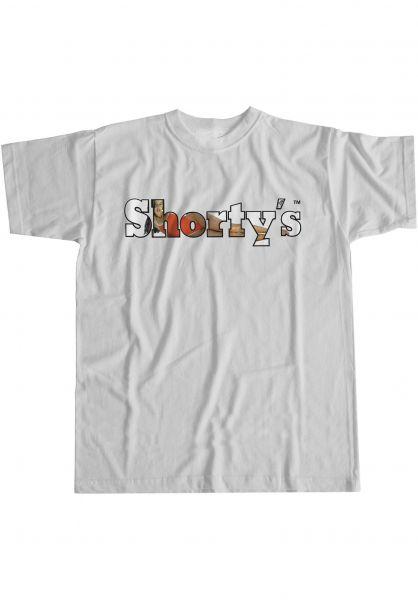 Shortys T-Shirts Rosa Long white vorderansicht 0323885