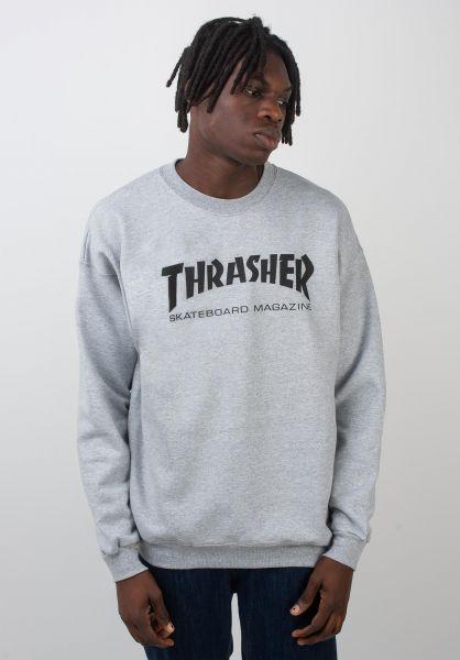 Thrasher Sweatshirts und Pullover Skate-Mag Crewneck greymottled vorderansicht 0042429