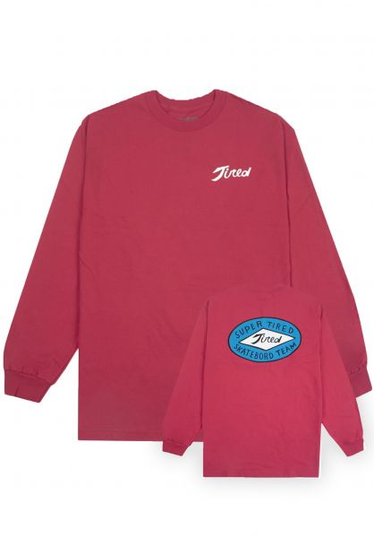 Tired Longsleeves Super Tired red vorderansicht 0383395