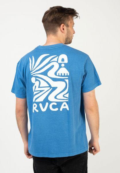 RVCA T-Shirts Straits cobalt vorderansicht 0324369