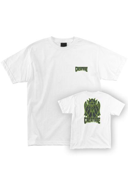 Creature T-Shirts Gargoyle S/S white vorderansicht 0321913