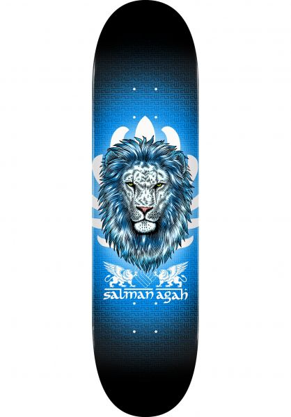 Powell-Peralta Skateboard Decks Salman Agah Lion Popsicle black-blue vorderansicht 0262961
