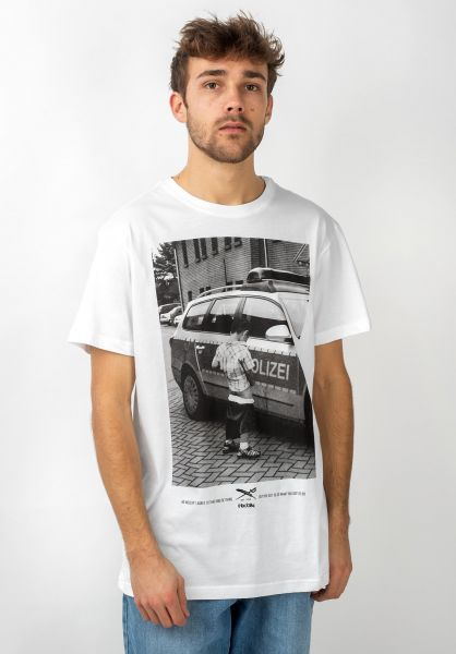 iriedaily T-Shirts Pissizei white vorderansicht 0394024