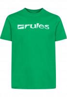 Rules T-Shirts Basic green-white Vorderansicht