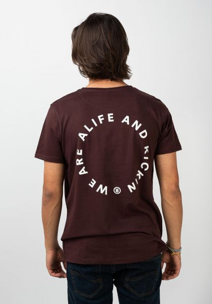 alife and kickin T-Shirts Logo Pocket puce 120 vorderansicht 0322162