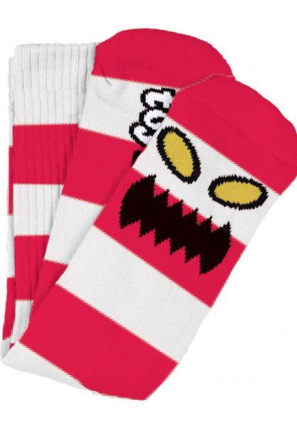 Toy-Machine Socken Monster Big Stripe red vorderansicht 0631603