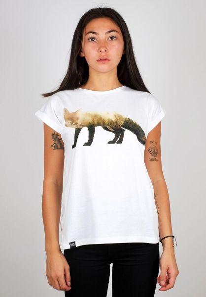 Dedicated T-Shirts Visby Forest Fox white vorderansicht 0398670