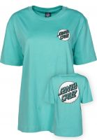 Santa-Cruz T-Shirts Missing Dot aqua Vorderansicht