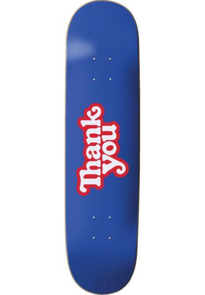 Thank You Skateboards Skateboard Decks Thank You Logo blue vorderansicht 0260985