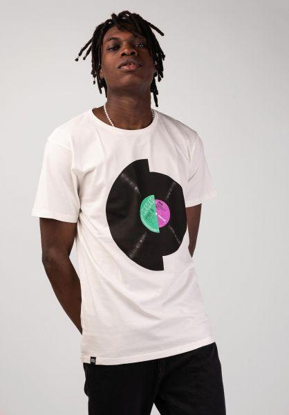 Dedicated T-Shirts Stockholm Record Split offwhite vorderansicht 0320244