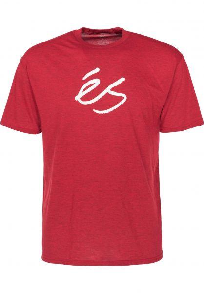 ES T-Shirts Mid Script Tech red Vorderansicht