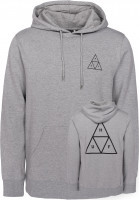HUF Hoodies Triple Triangle grey Vorderansicht