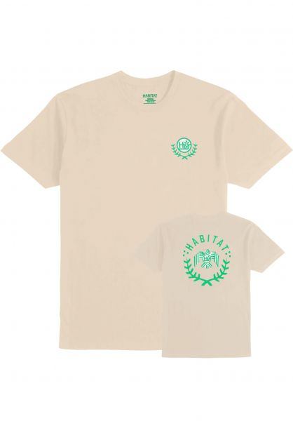 Habitat T-Shirts Raptor Wreath tan Vorderansicht