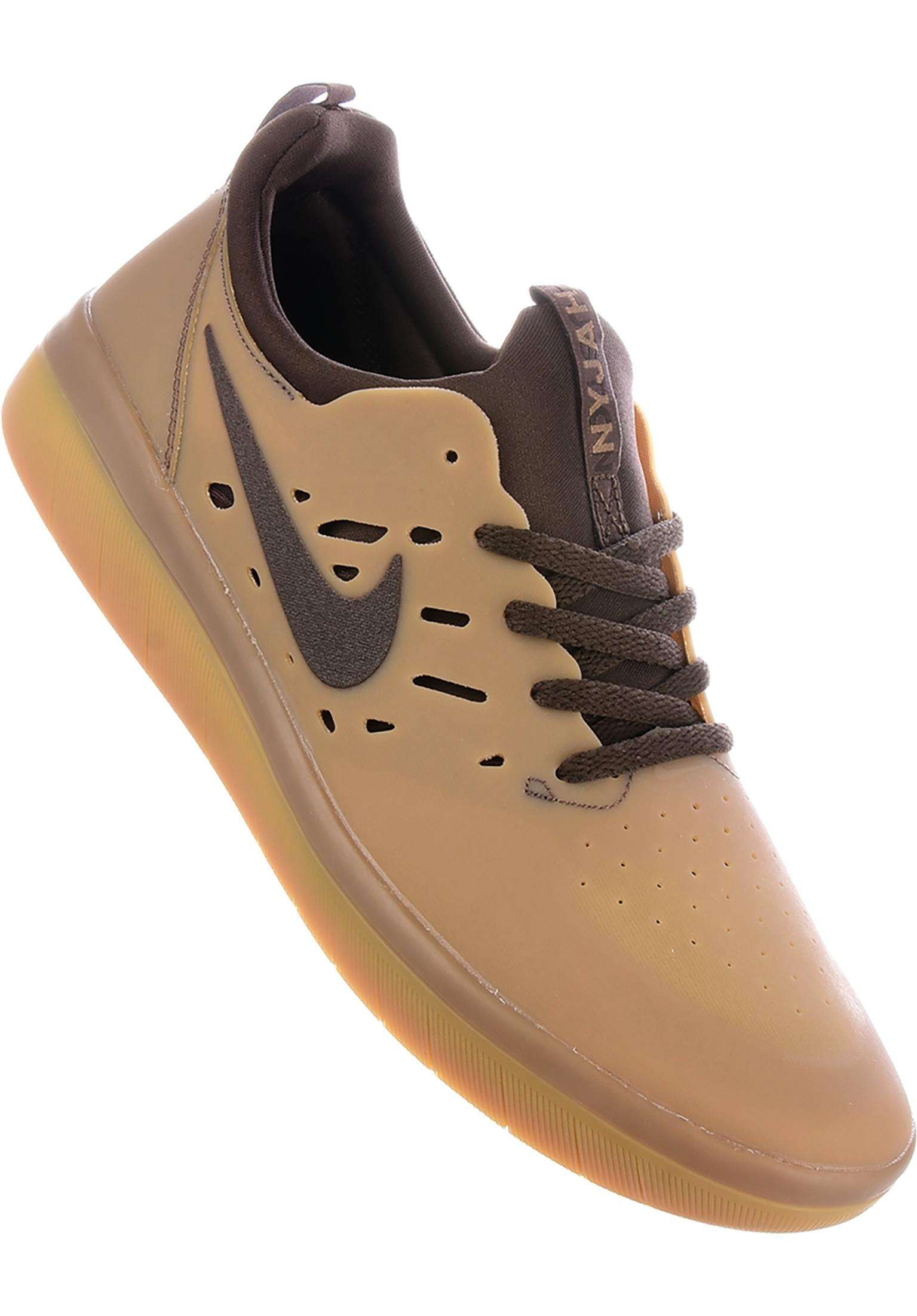 new concept 4cc51 9a594 Nyjah Free Skateboarding Nike SB All Shoes in gumdarkbrown for Men  Titus