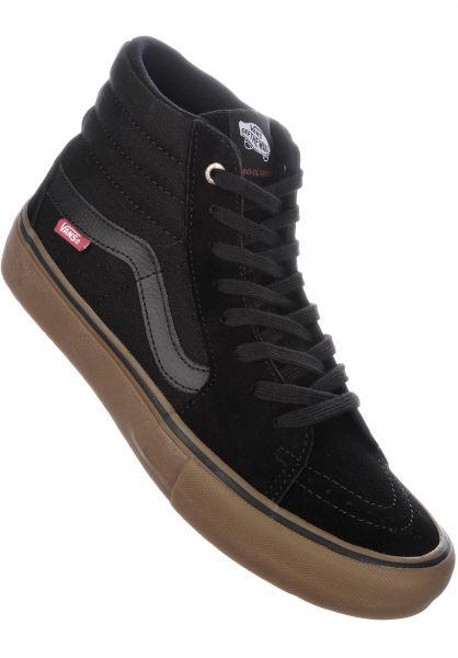 Vans Alle Schuhe Sk8 Hi Pro black-gum Vorderansicht 5740280aee19
