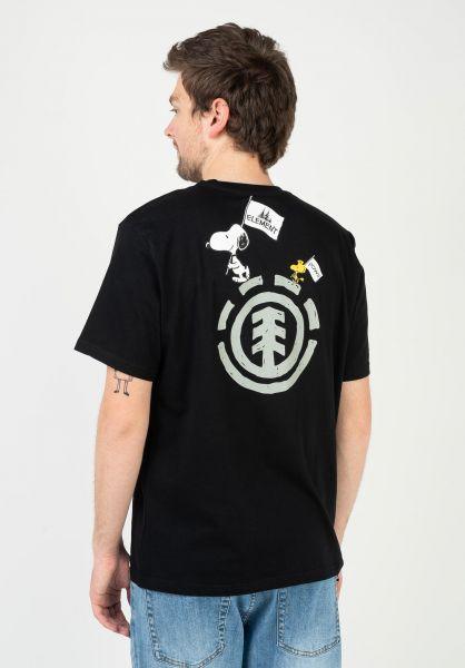 Element T-Shirts x Peanuts Slide flintblack vorderansicht 0323342