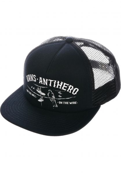 Vans Caps Vans x Anti x Anti Hero Wired black-zinnia vorderansicht 0566185