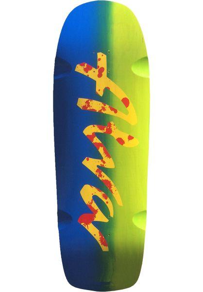 Alva Skateboard Decks Double Diamond green-blue vorderansicht 0110768