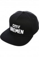 TITUS-Caps-City-of-BREMEN-Snapback-black-Vorderansicht
