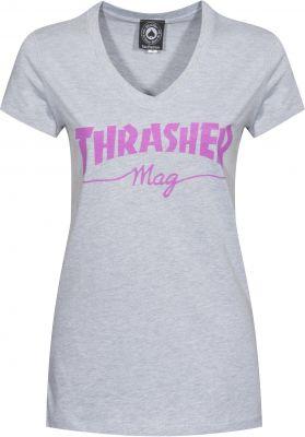 Thrasher Mag Logo Girls V-Neck