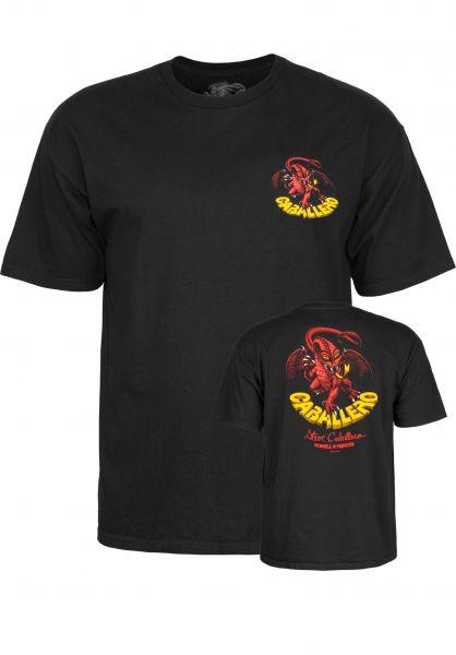 Powell-Peralta T-Shirts Cab-Dragon-II black vorderansicht 0369546