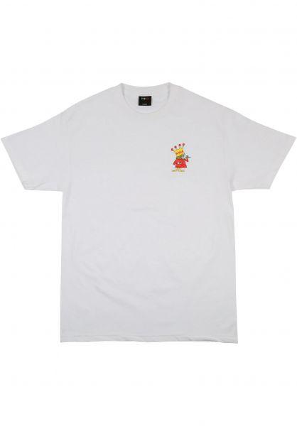 Pizza Skateboards T-Shirts King white vorderansicht 0321809