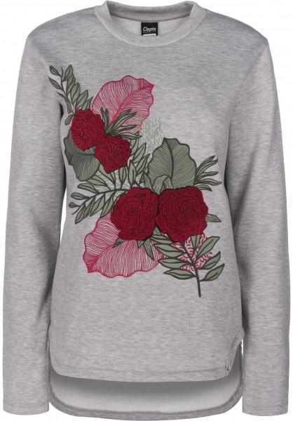 Cleptomanicx Sweatshirts und Pullover Floral heathergrey Vorderansicht