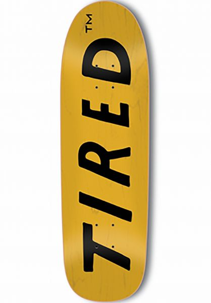 Tired Skateboard Decks Uppercase Logo on Sigar natural Vorderansicht