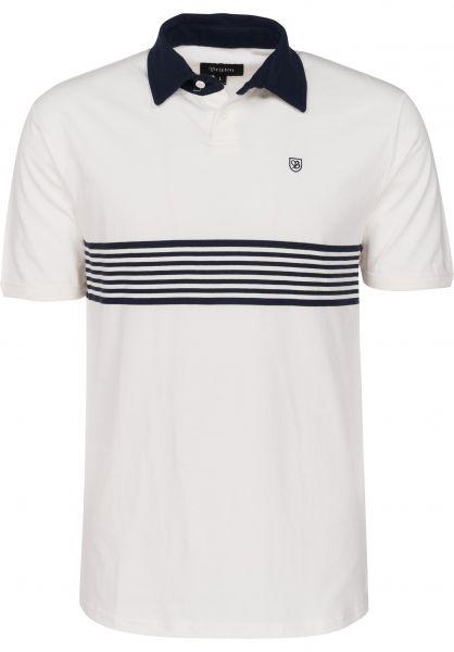 Brixton Polo-Shirts Tipton offwhite Vorderansicht