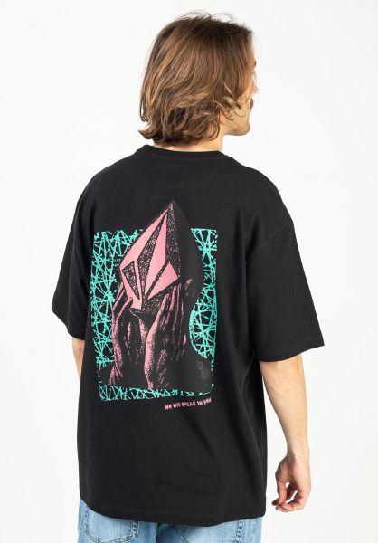 Volcom T-Shirts Stone Face LSE black vorderansicht 0323526
