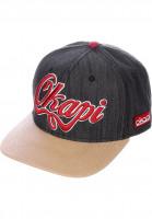 Okapi Caps 6P Snapback Bambu Oka black-khaki Vorderansicht
